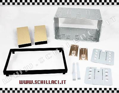 P2DIN - PLANCIA DOPPIO DIN UNIVERSALE 181 x 101 mm griglia carrello slitta 2 DIN