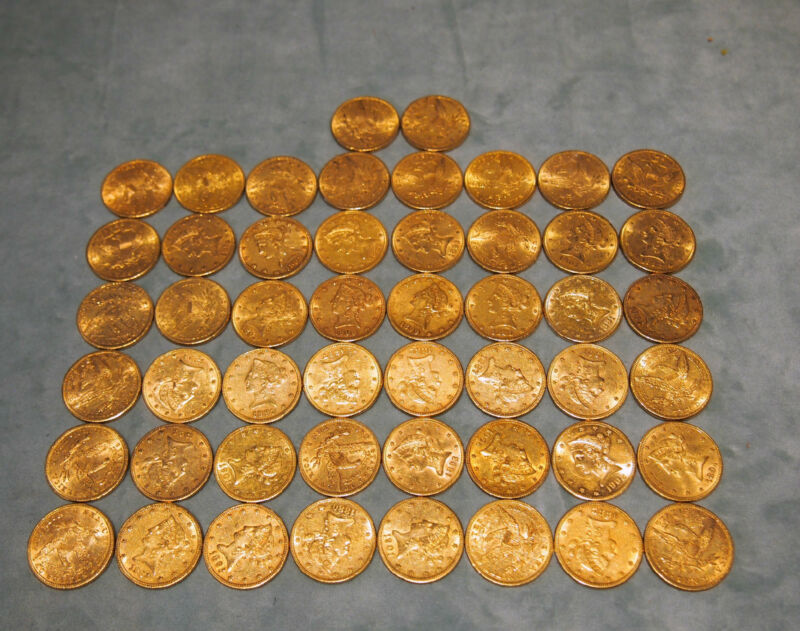 SET OF 39 X $10 LIBERTY GOLD COINS (DIFFERENT YEARS)THE PRICE IS FOR 1 COIN ONLY