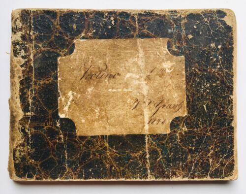 Antique 19th Century 1848 Handwritten Manuscript Violin Sheet Music Song Book