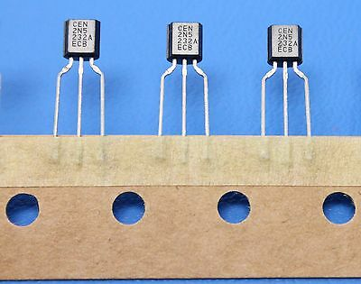 Central Semiconductor 2N5232a To 92 Npn 100Ma 50V Transistor New Quantity 25