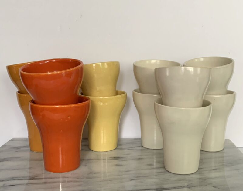 12 Sierra Pottery Made In California Vintage Ceramic Cups Retro MCM