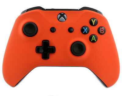 """Slow Touch Orange"" Xbox One S Custom Un-Modded Wireless Microsoft Controller"
