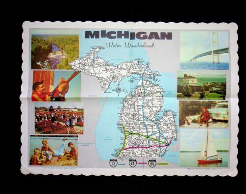 Michigan Placemat Water Wonderland KVP Sutherland Paper Co. Kalamazoo