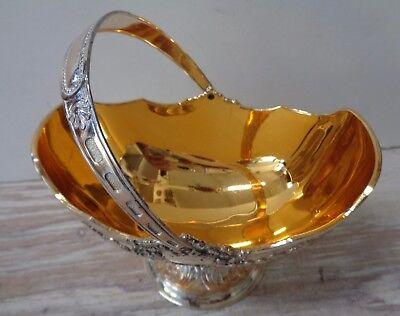 Sugar Bowl Open Handled Japan Gold Tone Silverplate ()
