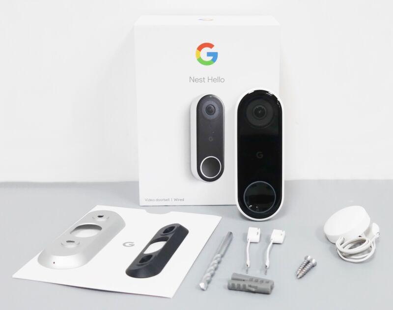 Google Nest NC5100US WiFi Hello Video Doorbell