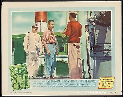 THE AFRICAN QUEEN (1952) ORIGINAL LOBBY CARD #6 with H. BOGART & K. HEPBURN