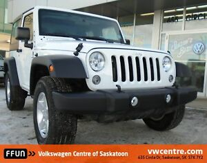 2016 Jeep Wrangler Sport LOW KMS, 4X4, Removable Hardtop.