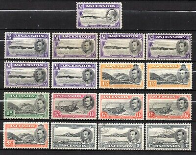 Ascension nice mixed used & mint no gum collection, stamps as per scan(10336)