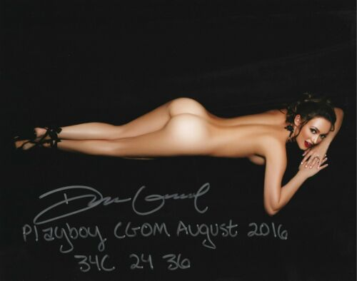 DEANNA GREENE 08/2016 PLAYBOY CYBERGIRL OF THE MONTH SEXY SIGNED PHOTO  (IN1)