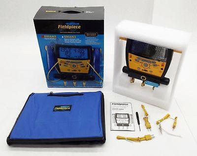 New Fieldpiece Sman2 Hvacr 3-port Digital Refrigerant Manifold Vacuum Gauge
