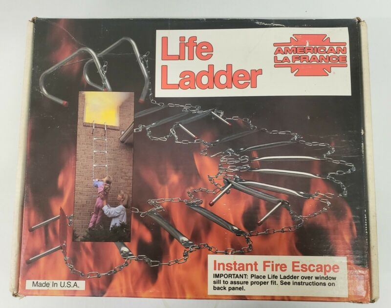 American Lafrance Escape Metal Step Hanging Steel Chain Life Ladder (A1)