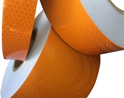 High Intensity Orange High Quality Reflective Tape Various Sizes