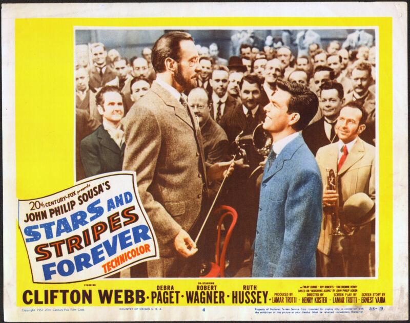 STARS AND STRIPES FOREVER 11x14 ROBERT WAGNER/JOHN PHILIP SOUSA orig movie lobby