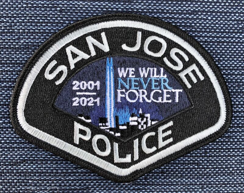 San Jose Police CA 20 year 9/11 Collector