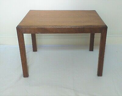 ANTIQUE 1940's UTILITY CC41 F201  OAK SIDE TABLE -COFFEE TABLE -END TABLE