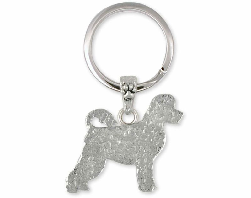 Portuguese Water Dog Jewelry Sterling Silver Handmade Portuguese Water Dog Key R