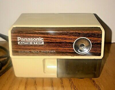Vintage Panasonic Auto Stop Electric Pencil Sharpener Kp-110 Tested Working