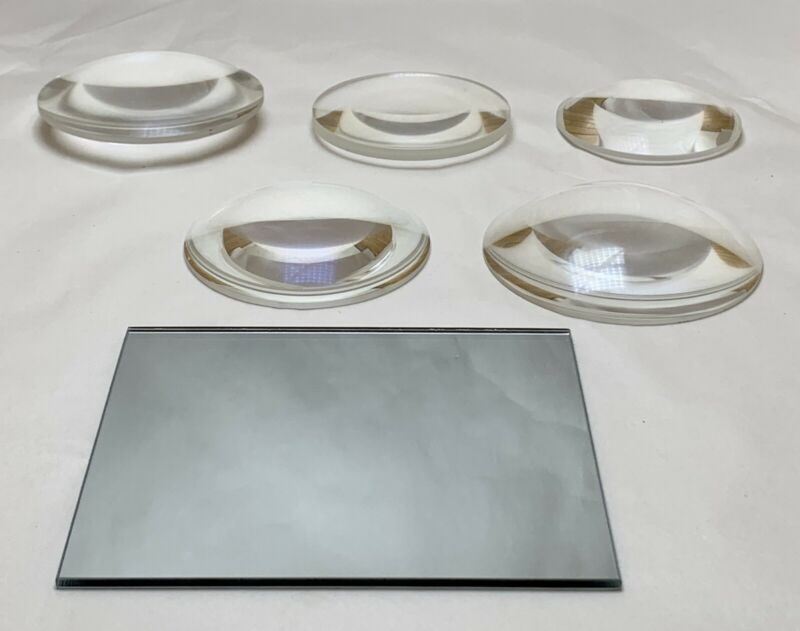 Lot Of 5 Glass Reflector Telescope 1st Surface Mirror Lens Optical Prisms Laser
