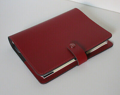 Nwt Filofax The Original Pillarbox Red Leather Agenda Planner With Inserts Uk