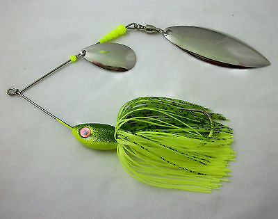 25 Silicone Skirt  #25-9367  Chartreuse//Chart green spinner bait bass musky