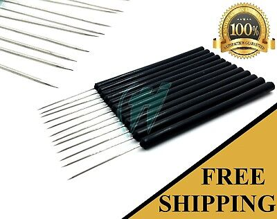 Set Of 12 Black Dissection Dissecting Needles Straight