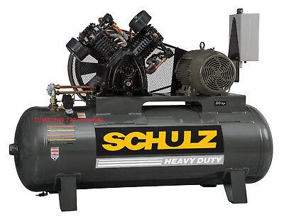 Schulz Air Compressor 20hp 80 Cfm 175 Psi 120 Gallon- New 3ph