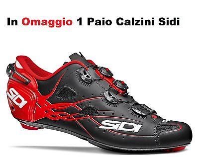 Scarpe Bici Da Corsa SIDI Shot Matt Carbon Per Bicicletta Strada Road Ciclismo