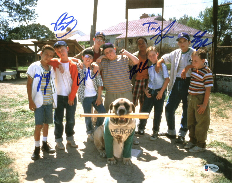 The Sandlot (6) Guiry, Leopardi, Adams +3 Signed 11x14 Photo BAS Witnessed 3