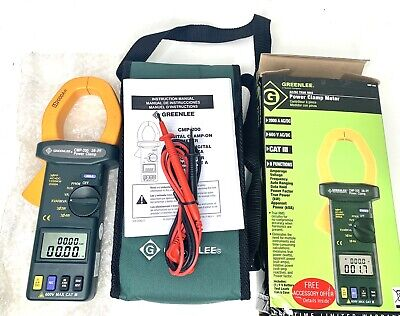 New Greenlee Cmp200 2000a Ac Power Clamp Meter W Current Calibration