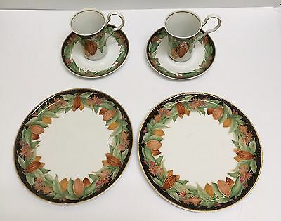 ❤6 CLASSIC ROSE ROSENTHAL GROUP GERMANY SALAD PLATE TEA CUP SAUCER LUNCHEON SET❤