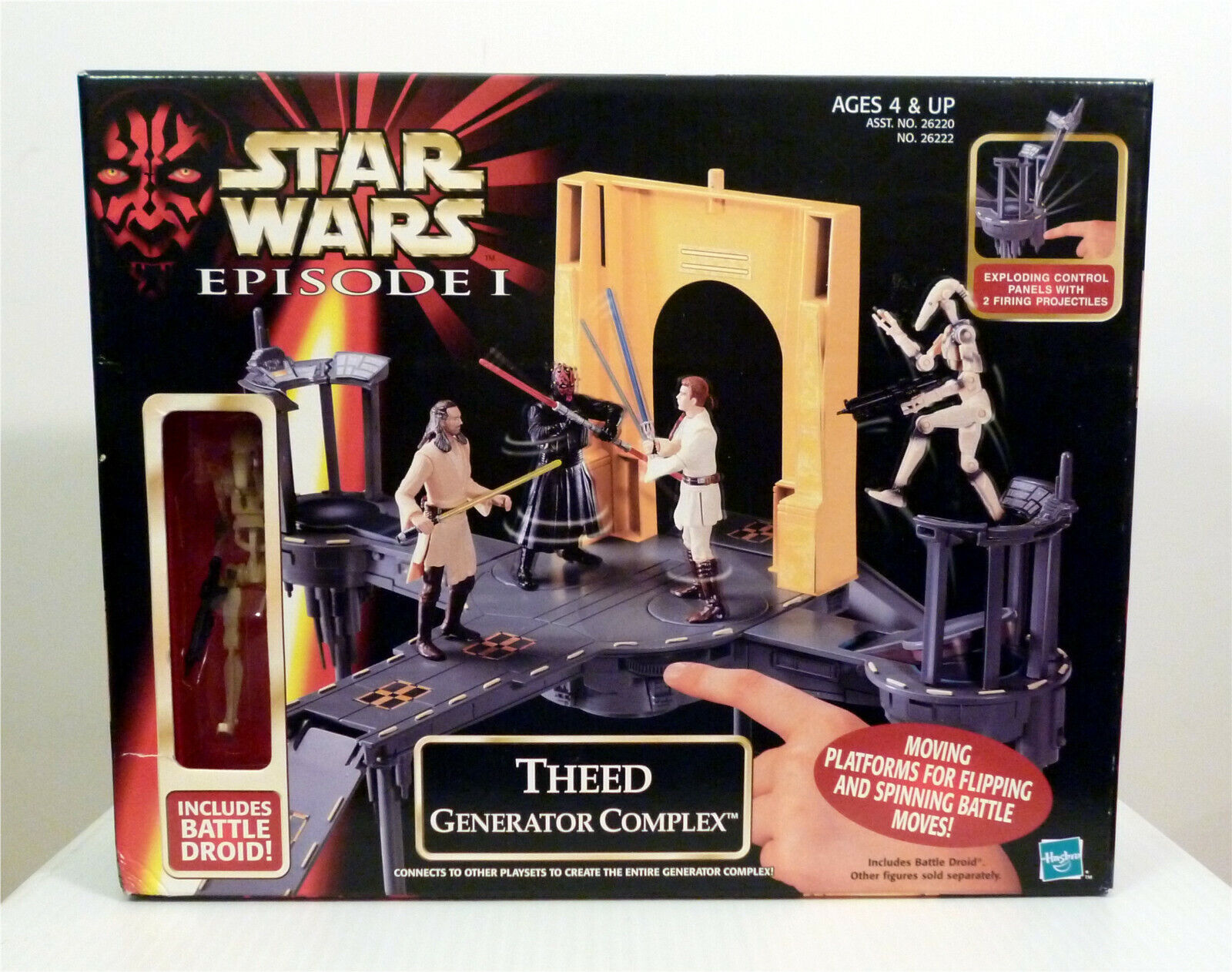 Star Wars 1999 Episode 1 Theed Generator Complex w Droid Pla