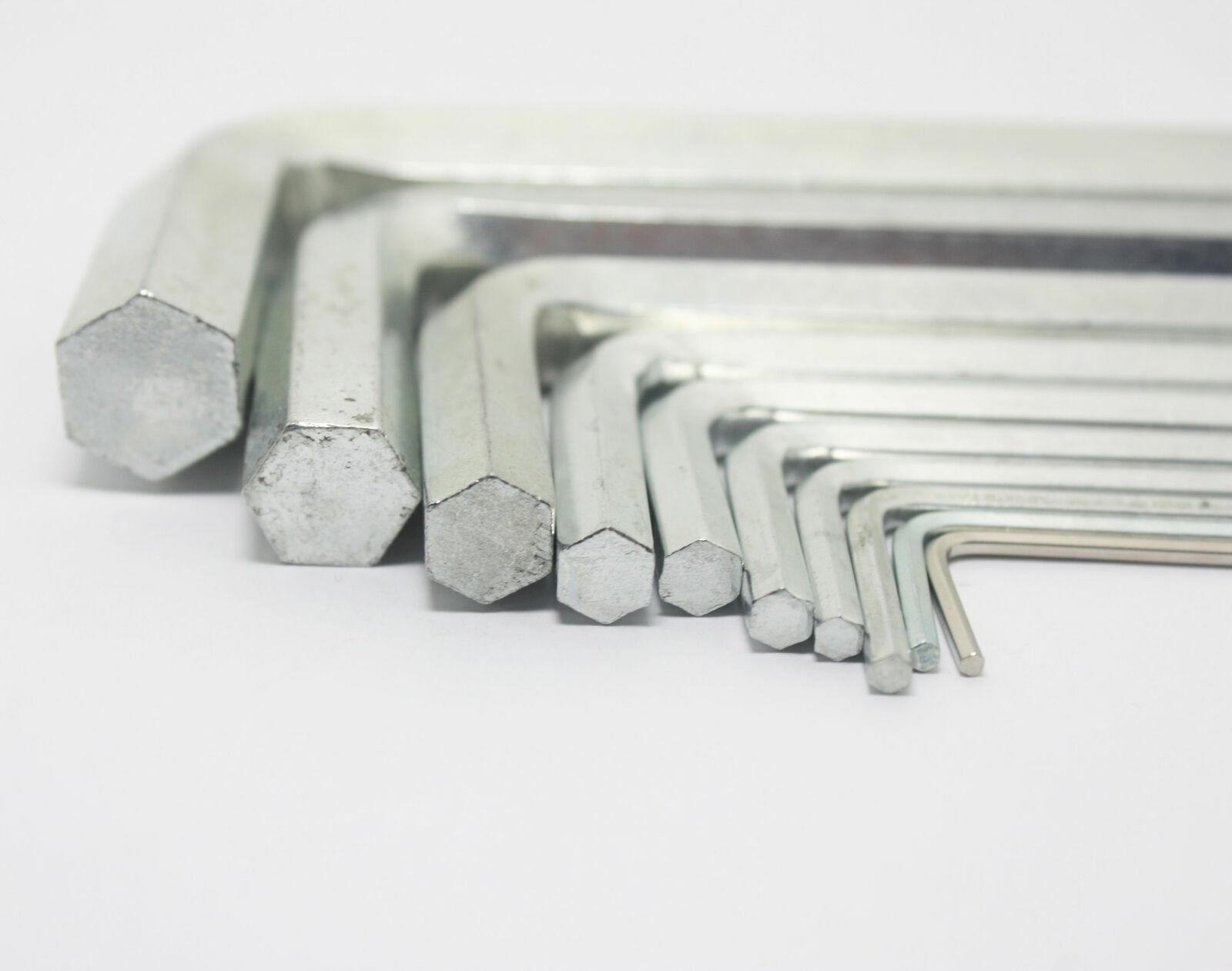 0.9mm-8mm Diameter Metric Short Arm Allen Hex Key Wrench Key Steel O8U6 Hex A2W9