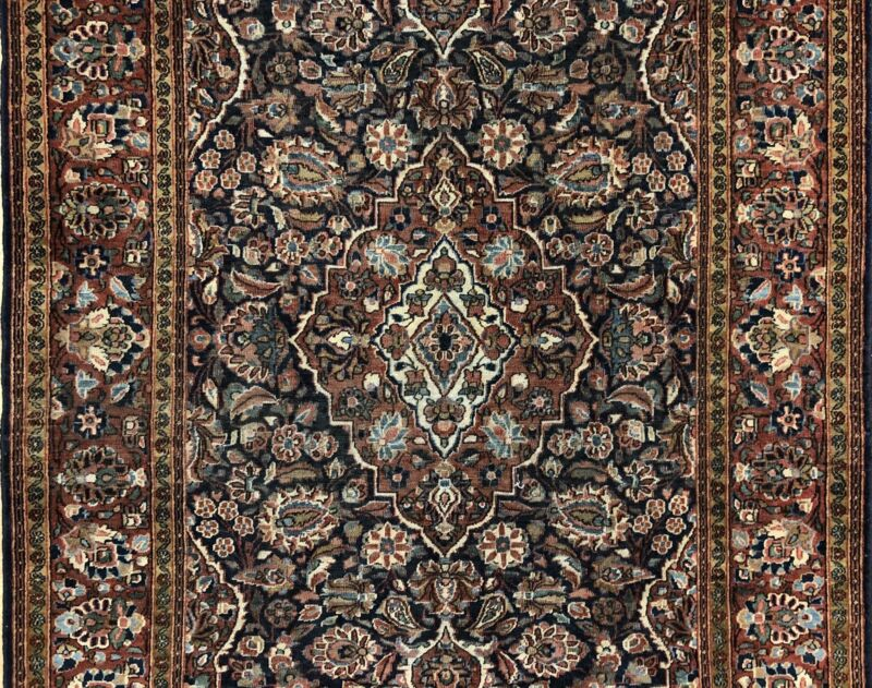 Fantastic Floral - 1920s Antique Oriental Rug - Handmade Carpet - 4.3 X 6.8 Ft.