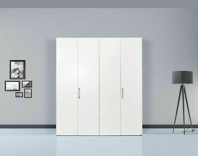 Hülsta Kleiderschrank 4 türig Mod. Solo 984011 Lack weiß