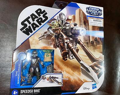 "NEW Star Wars Mission Fleet The Mandalorian 2.5"" Figure Speeder Bike The Child"