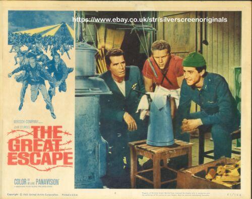 Great Escape ORIGINAL US Lobby Card James Garner Steve McQueen 1963