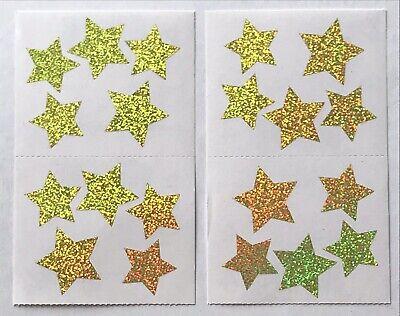 4 MODULES SMALL GOLD SPARKLE STARS MRS GROSSMANS GLITTER STICKERS CELEBRATE Star Glitter Stickers