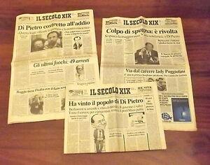 1994 - BERLUSCONI CONTRO MANI PULITE - lotto 3 IL SECOLO XIX luglio - Italia - 1994 - BERLUSCONI CONTRO MANI PULITE - lotto 3 IL SECOLO XIX luglio - Italia