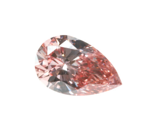 Argyle 0.15ct Natural Loose Fancy Intense Orangy Pink Color Diamond GIA Pear VS1