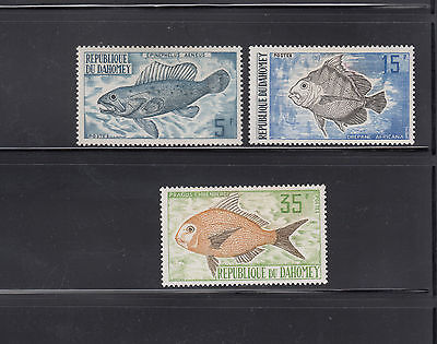 Dahomey 1973  Fish  Sc 312-314  complete Mint Never Hinged