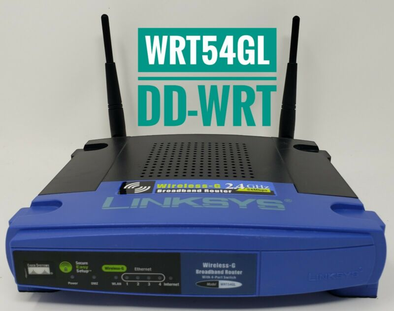 Linksys WRT54GL DD-WRT Wireless Router Wi-Fi repeater VPN