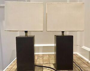 Deux lampes de chevet / Table lamps