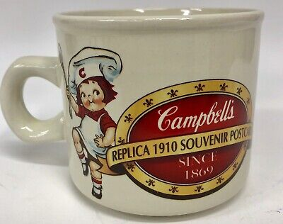 Campbells Kids Mug Soup Coffee Add Zest Replica 1910 Postcard 1994 Westwood VTG
