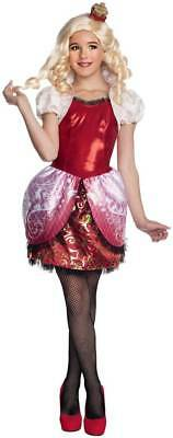 NWT-Girls Rubies 3 Pc Ever After High Apple White Halloween Costume-size M 8/10