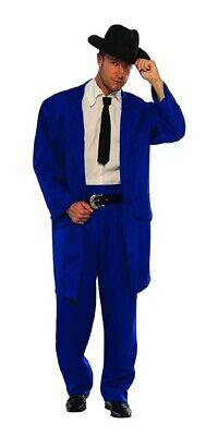 Blue Zoot Suit Gangster Mobster 1920's 1940's Mob Mafia Adult Men's Costume](1940 Gangster Costume)