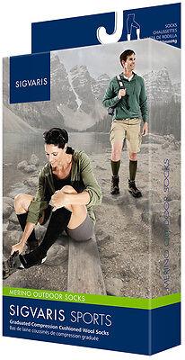 Sigvaris Merino Wool Outdoor Hiking Socks 15-20 Mmhg Compression, Men And Women
