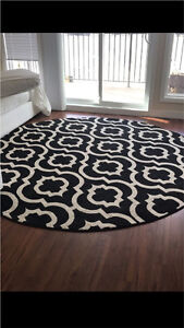 Black and Cream Area Rug $200