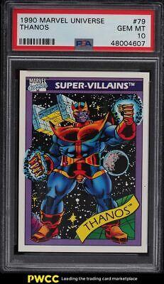 1990 Marvel Universe Thanos 79 PSA 10 GEM MINT - $225.50