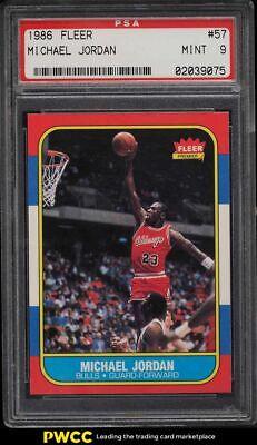 1986 Fleer Basketball Michael Jordan ROOKIE RC #57 PSA 9 MINT