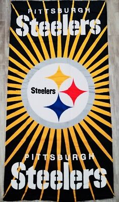 NFL Football Pittsburgh Steelers Licensed Bath and Wash Towels - 2 Piece Set -